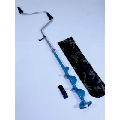 Ледобур 2-х лопастной стальной 130мм стандартный (ЛР)