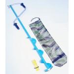 Ледобур 2-х стальной лопастной 130мм стандартный ручка-Рапала,удлиненная спираль(ЛРФУДС130)