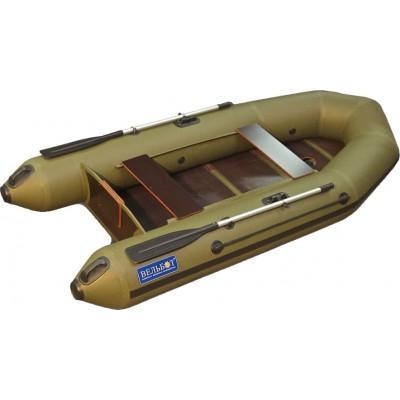 Лодка ВЕЛЬБОТ Вуд 2М слань+киль моторно-гребная серия F