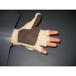 Перчатки-варежки вязаные бежевые