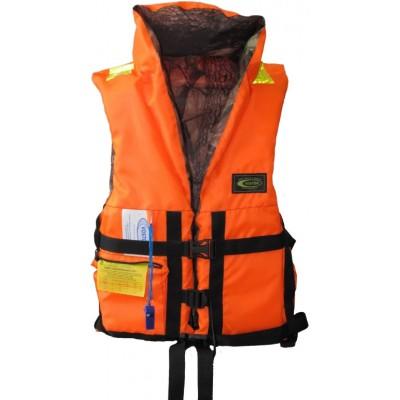 Жилет спасательный с подголовником (лес/оранжевый) двухсторонний