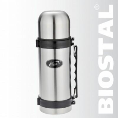 Термос с узкой горловиной кнопка+ручка 1,2 л NY-1200-2 (BIOSTAL)