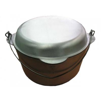 Котёл походный 6 л с крышкой-сковородкой литой